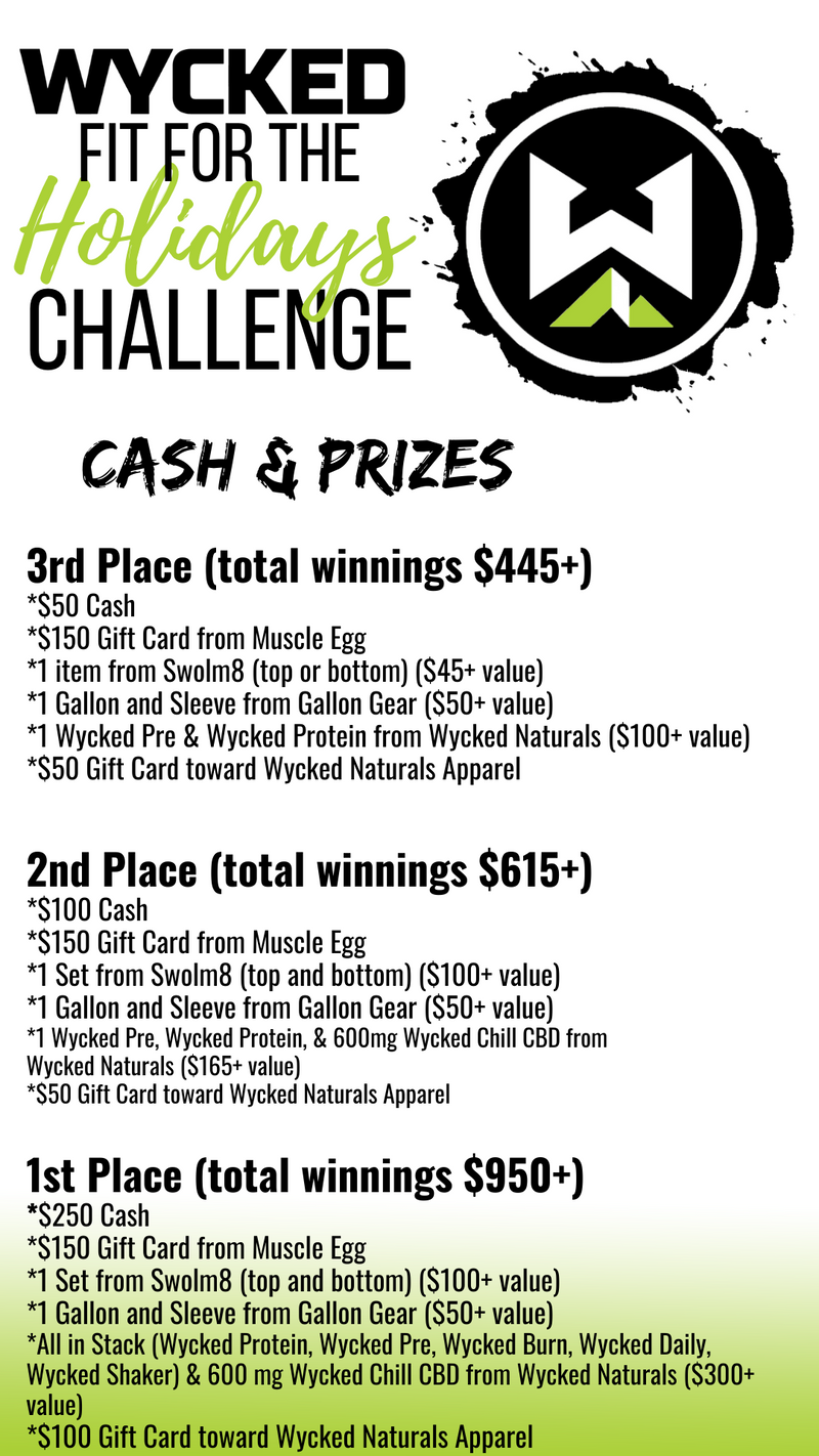 Wycked Fit for the Holidays Challenge ($2,000 in Cash and Prizes)