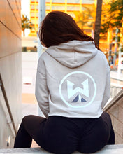 Load image into Gallery viewer, WYCKED CREAM CROP HOODIE