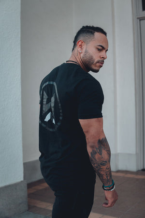 BLACK ON BLACK WYCKED NATURALS TEE
