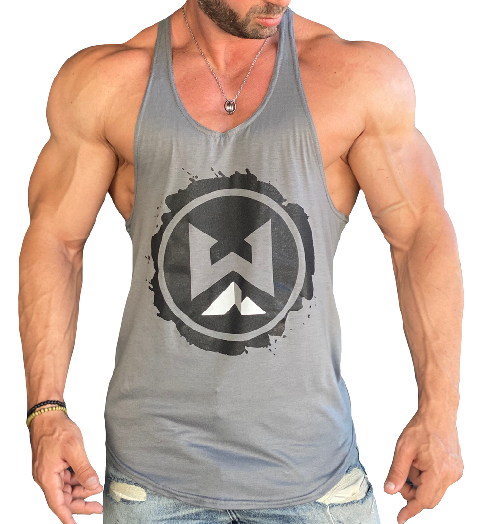 Splat Logo Stringer - Grey