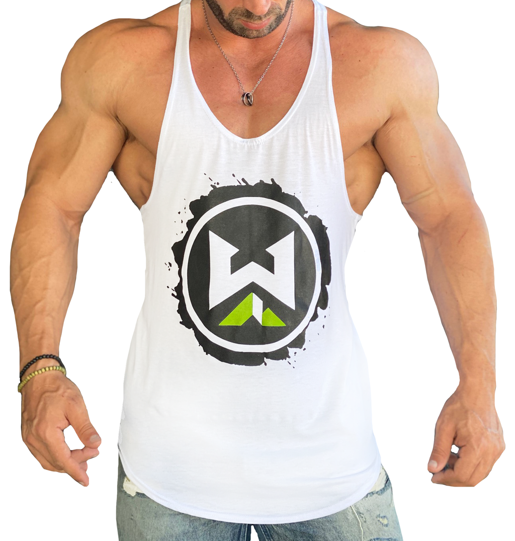Splat Logo Stringer - White