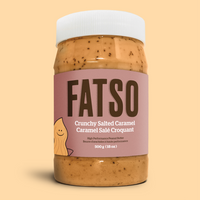 Shop Salted Caramel Fatso Keto Hybrid Vegan Peanut Butter available on SwitchGrocery