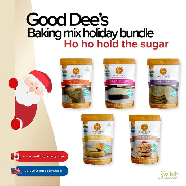 Good Dee's Holiday Bundle keto friendly baking on SwitchGrocery
