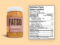 shop Keto and Paleo Friendly Fatso Crunchy Salted Caramel Nutritional Information on SwitchGrocery