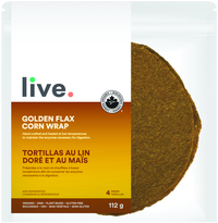 shop Live Organic Golden Flax Corn Wrap Vegan Low Carb and Keto friendly available on SwitchGrocery
