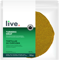 Shop Live Organic Turmeric Wrap Vegan Low Carb and Keto friendly available on SwitchGrocery