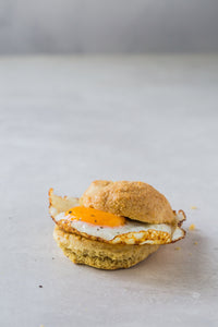 Good Dee's Keto Friendly and Sugar Free Cracker Biscuit Mix with an egg for breakfast on SwitchGrocery