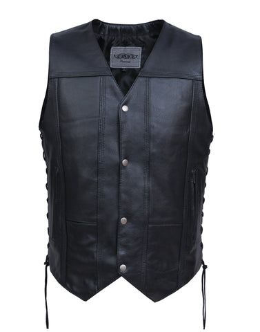 Style # 2632.TL UNIK TALL Men's Premium Leather 10-Pocket Vest