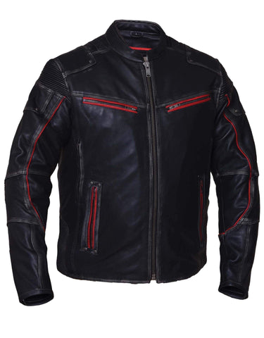 Style # 6633.01 UNIK Men's Ultra Leather Motorcycle Jacket