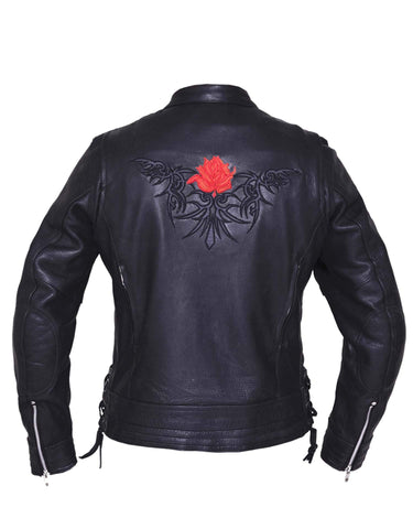 Style # 6801.01 UNIK Ladies Ultra Leather Motorcycle Jacket