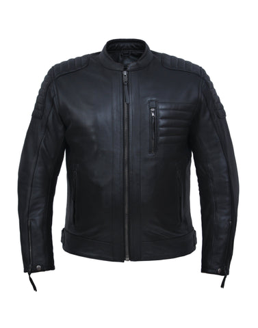 Style # 6904.00 UNIK Men's Premium Leather Motorcycle Jacket