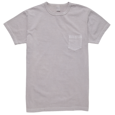 Garment Dyed Pocket T-shirt - Ash