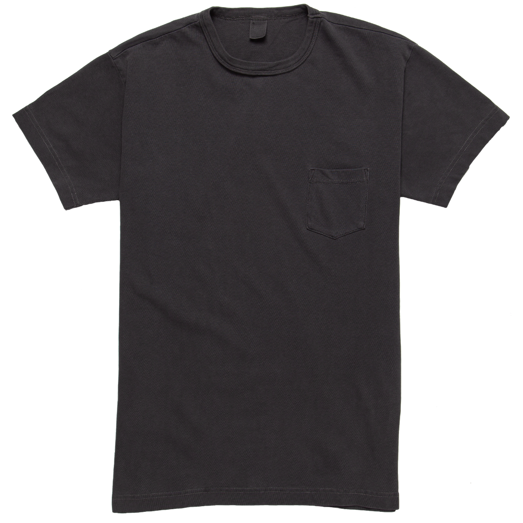 Garment Dyed Pocket T-shirt - Smoke