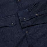 Selvedge Knit Crosscut Western Shirt - Indigo