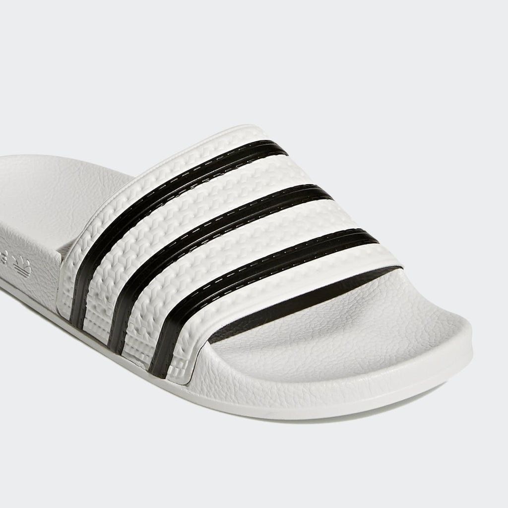 Adilette Slides - White / Black