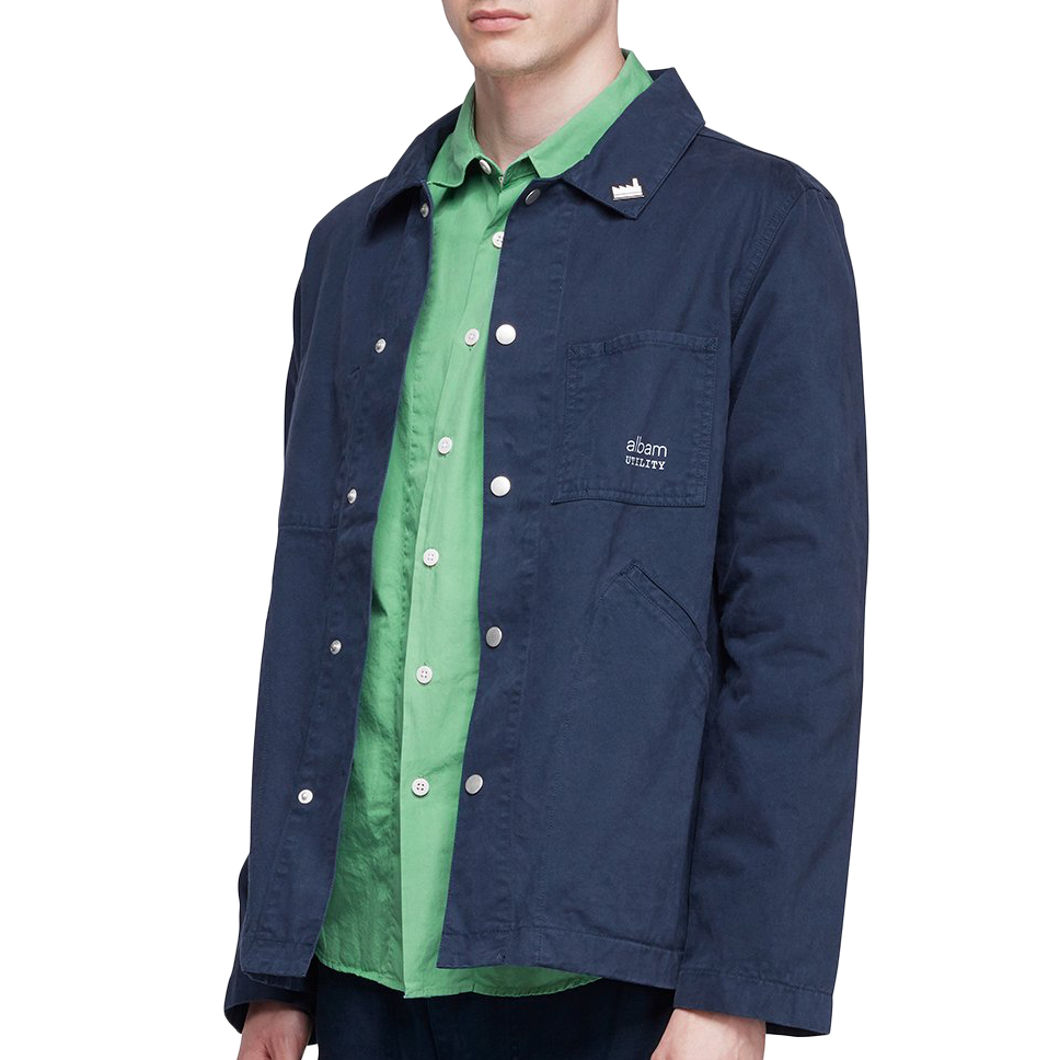 Utility Twill Factory Work Jacket - Navy