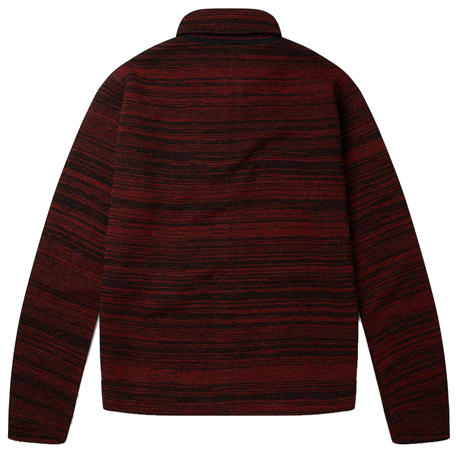 Milano Wool Track Top - Black / Red Stripe