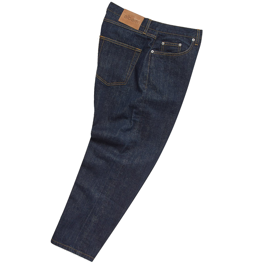 Taper Crop Japanese Selvedge Denim - Indigo