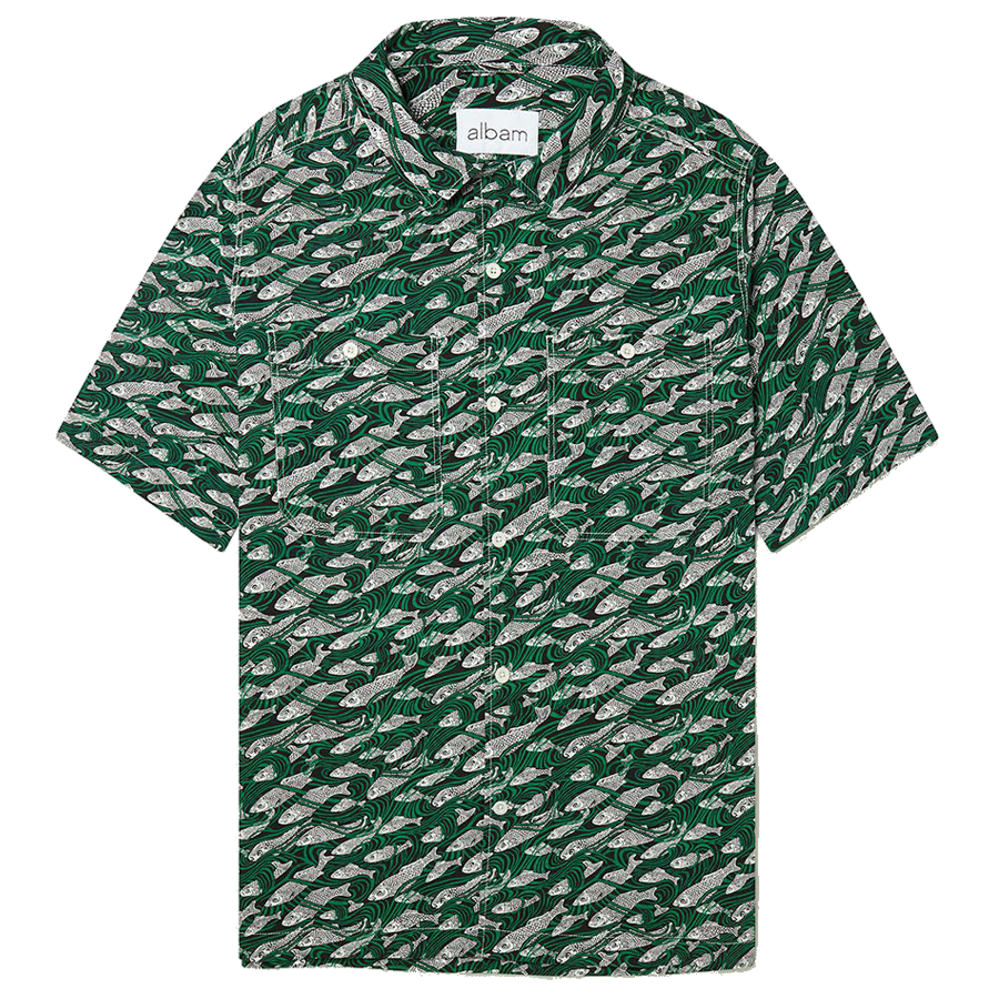 Revere Collar Shirt - Liberty Fish Green