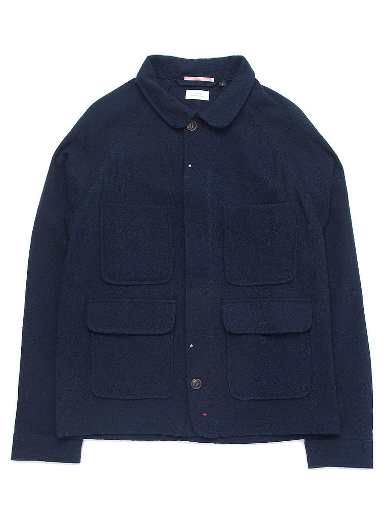 Wool Chore Jacket - Indigo