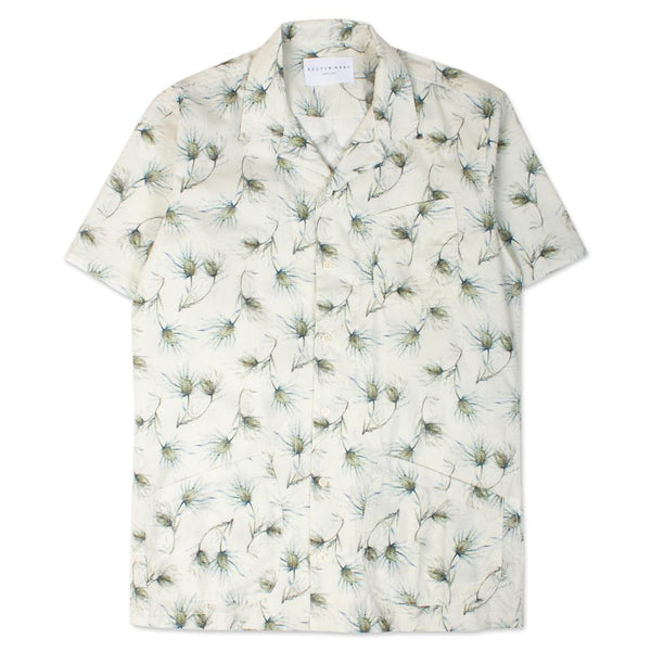 Sea Cliff Thistle Shirt - Off White / Olive