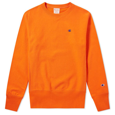 Reverse Weave Crewneck Sweatshirt - Spicy Orange