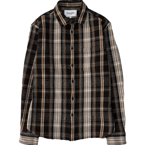 Black Mustard Plaid L/S - Black