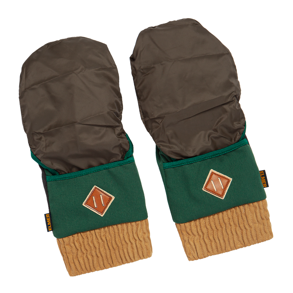 2 in 1 Hooded Mitt Glove - Green