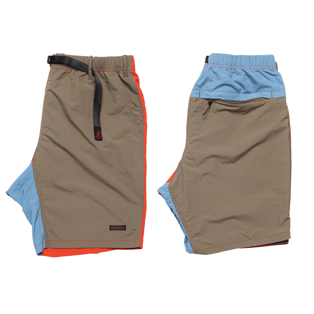 Shell Packable Shorts - Terra Cotta / Ash Olive