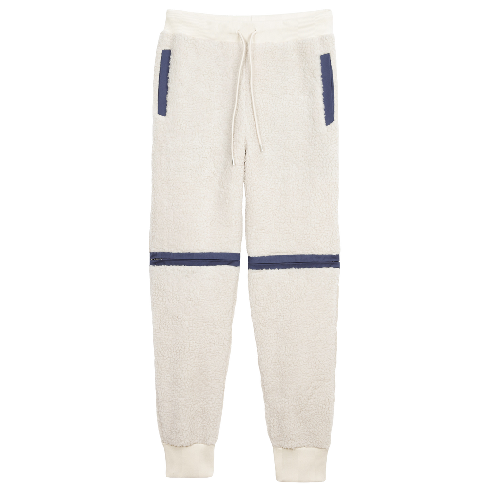 Nats Fleece Zip-Off Trouser - Ivory / Navy
