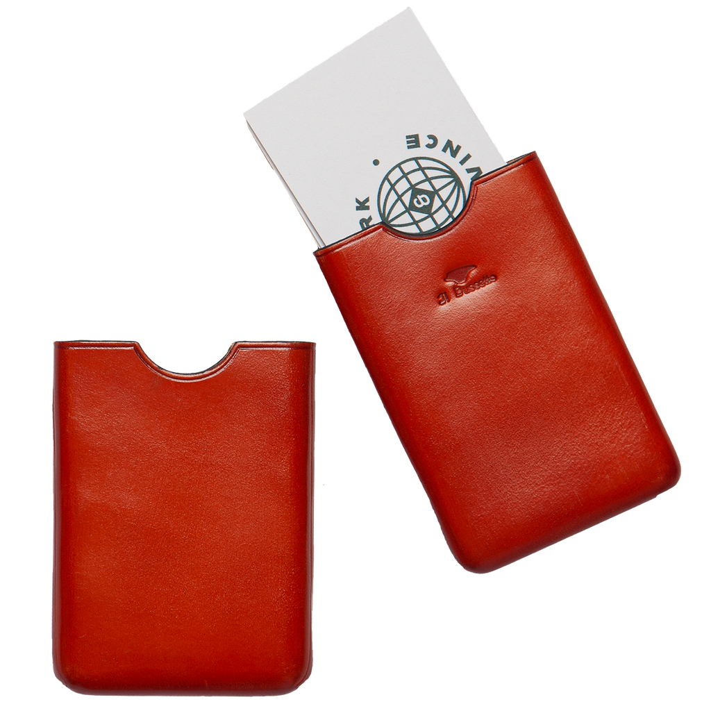 Business Card Holder - Coral Red