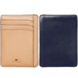 Card & Document Case - Navy / Natural