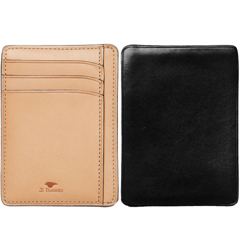 Card & Document Case - Black / Natural