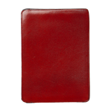 Card & Document Case - Coral Red / Natural