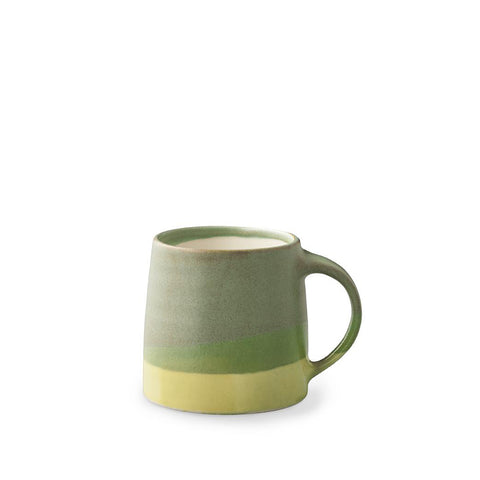 Pottery Mug - Moss Green / Yellow
