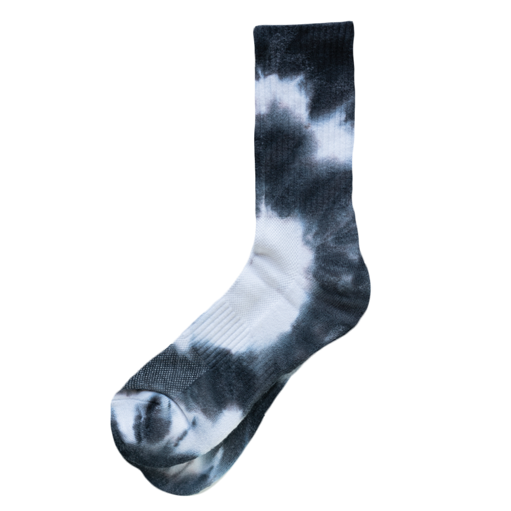Hi Ankle Tie Dye - Black / White