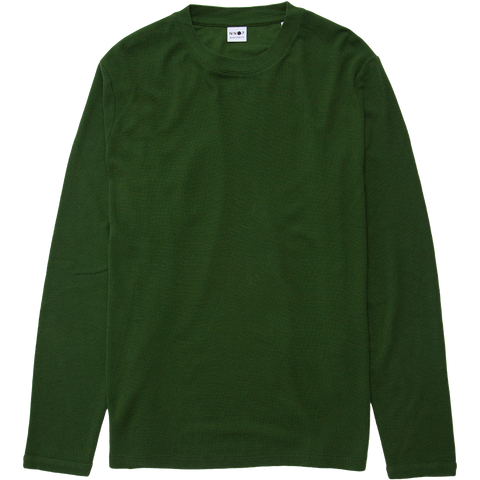 Clive Waffle Long Sleeve Tee - Bottle Green