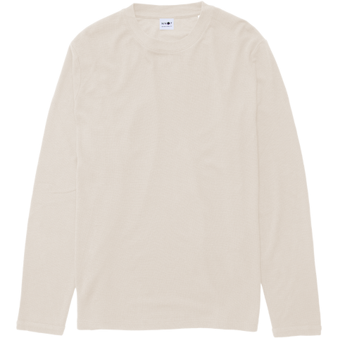 Clive Waffle Long Sleeve Tee - Egg White