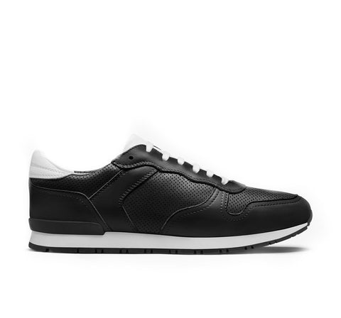 Rennes Vintage Leather Sneaker - Black