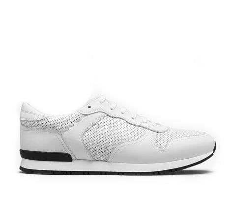 Rennes Vintage Leather Sneaker - White