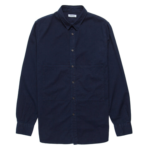 Mark Deep Pocket Shirt - Indigo Dash