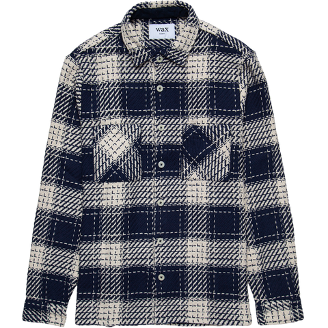 Whiting Woven Shirt - Marine Beatnik