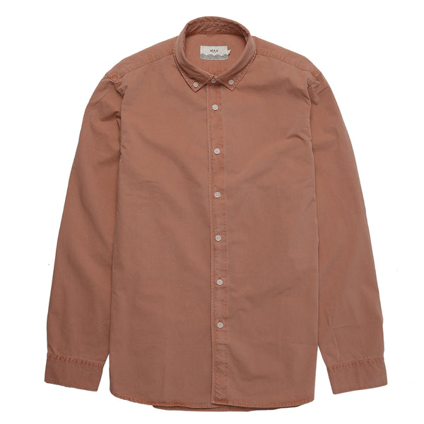 Bampton Brushed Shirt - Terracotta