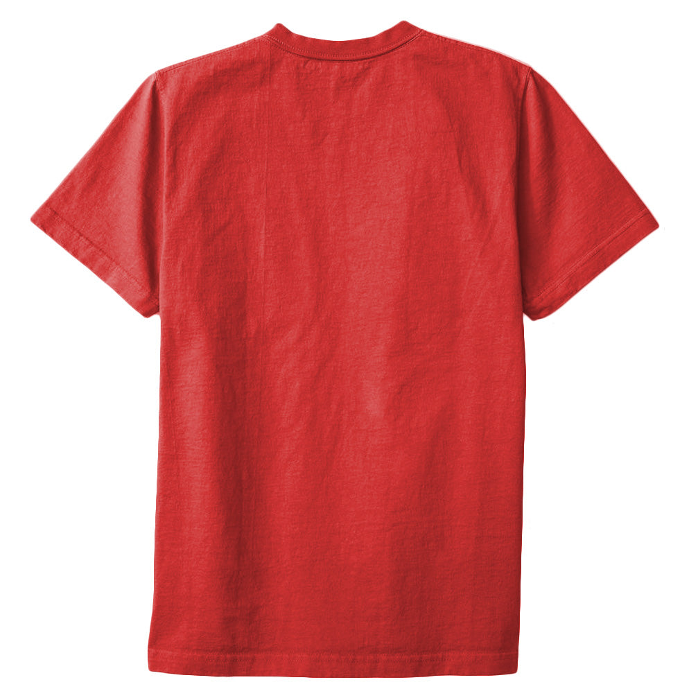 8 OZ Bison Pocket Tee - Dirty Red