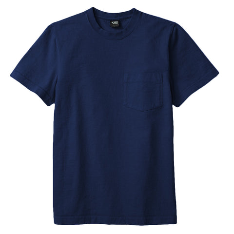 8 OZ Bison Pocket Tee - Navy