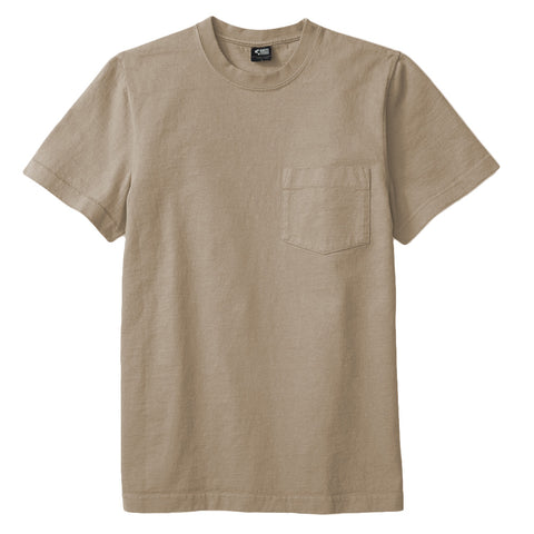 8 OZ Bison Pocket Tee - Oyster Sand