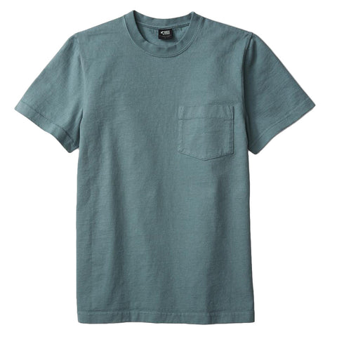 8 OZ Bison Pocket Tee - Smokey Blue