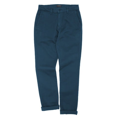 Overdyed Stretch Chino - Legion Blue