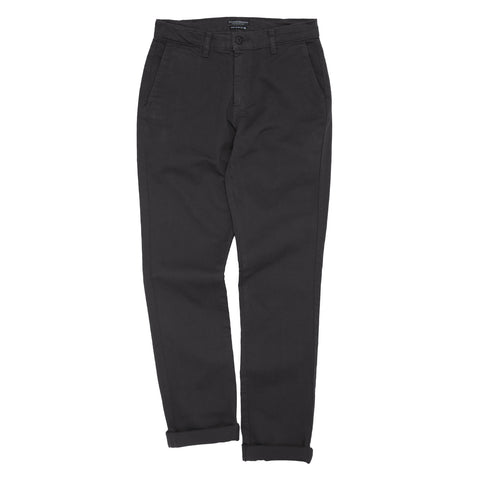 Overdyed Stretch Chino - Asphalt