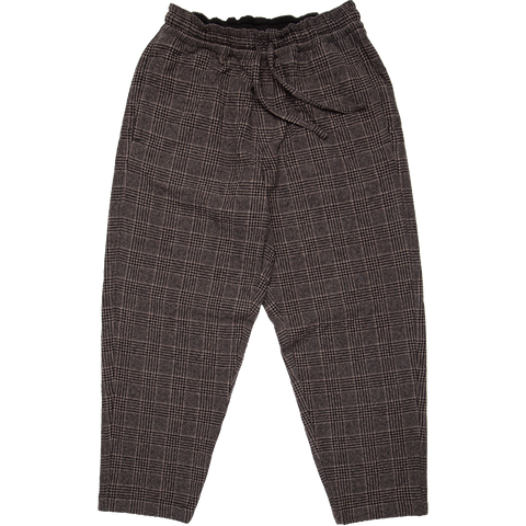 Alva Cropped Wool Skate Pant - Brown Check
